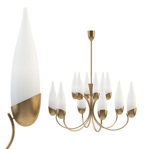 wonderful 1950s italian candelabra 3D model