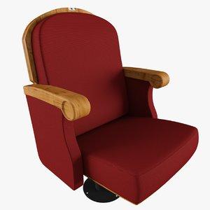 theatre chair 3D