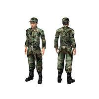 3D south korean army