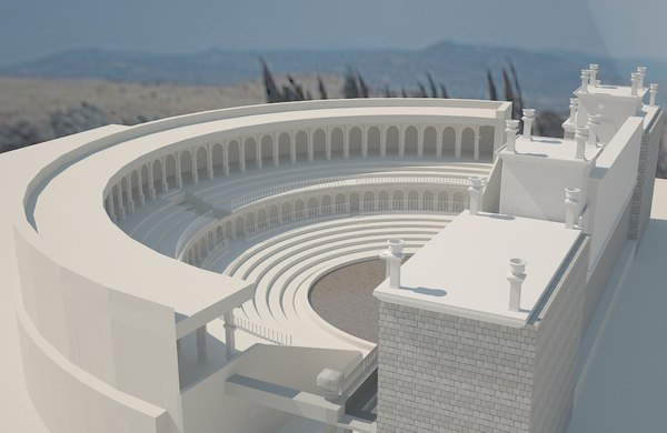 ancient theater 3D model