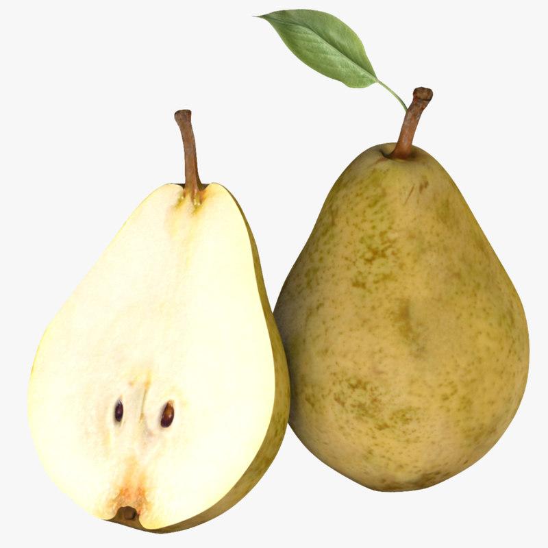 realistic pear fruit model