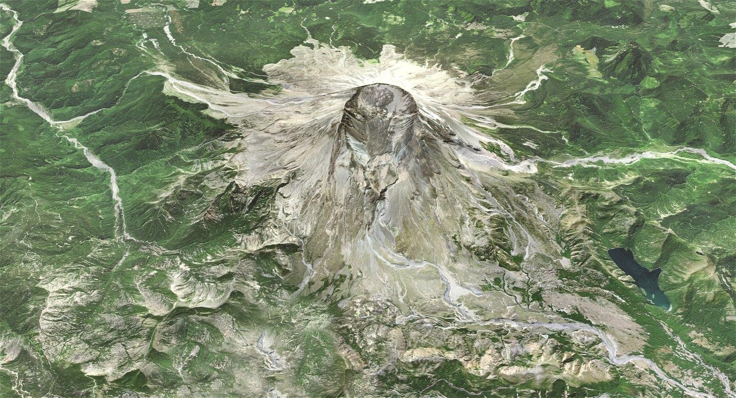 mountain st helens terrain model