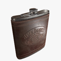 3D leather flask pbr