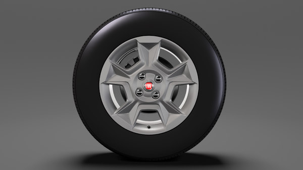 3D model fiat qubo trekking wheel
