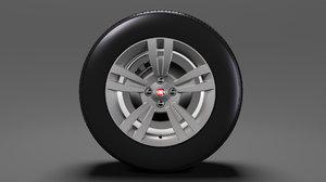 fiat qubo wheel 2017 3D model