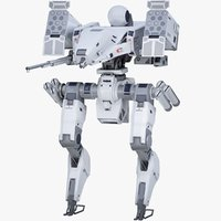 3D model robot ready pbr