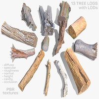13 logs 3D
