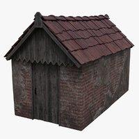 3D brick shed