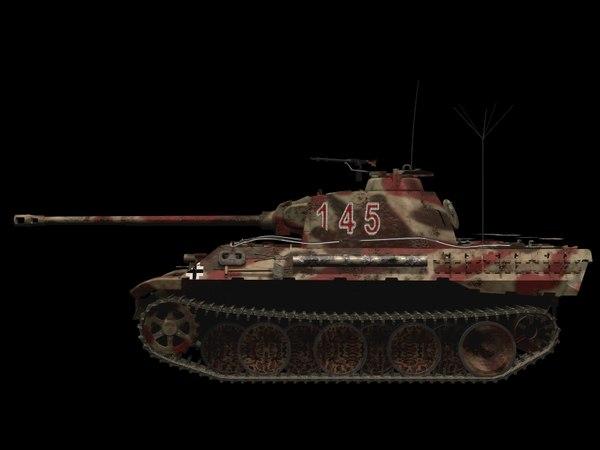 3D tank panzer v model
