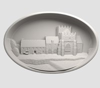 printing holy cross abbey 3D model