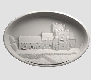 printing holy cross abbey 3D model
