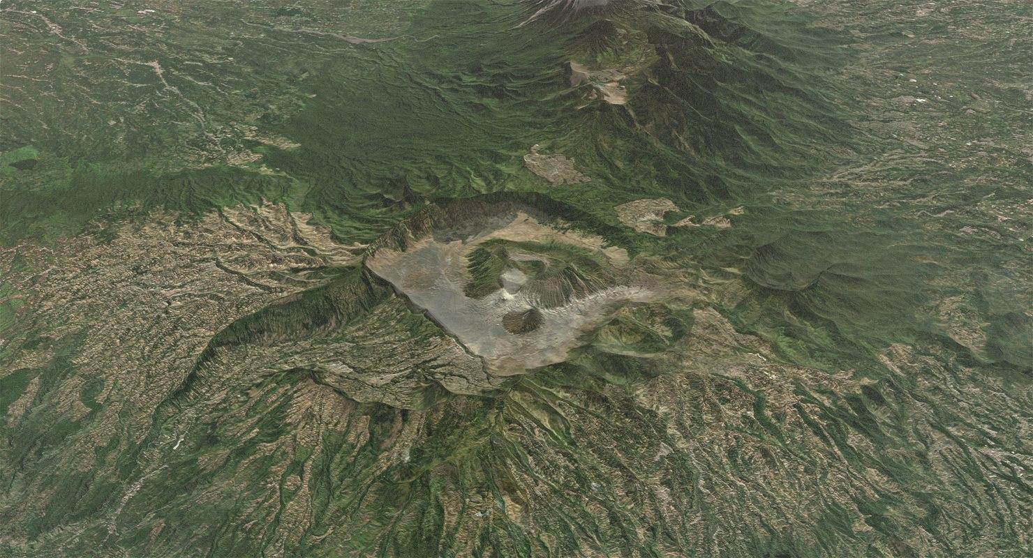 mountain bromo terrain 3D