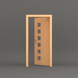 3D model room door