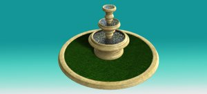 fountain water architectural 3D model