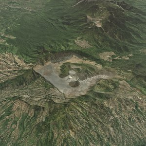 mountain bromo terrain 3D