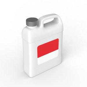 f-style gallon 3D model
