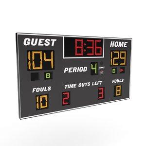 3D scoreboard score board