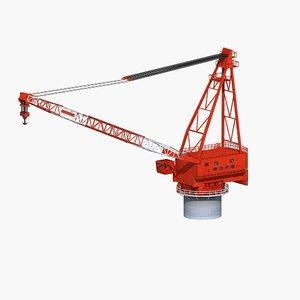 3D crane ship