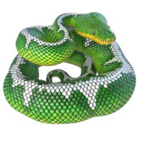 3D rigged emerald tree boa model