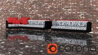 sofa snow leopard model