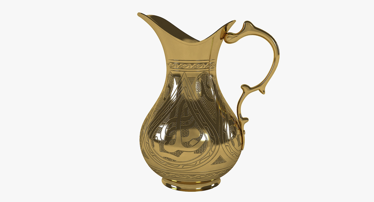 3D golden pitcher