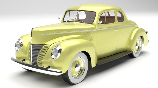 1940 deluxe coupe 3D model