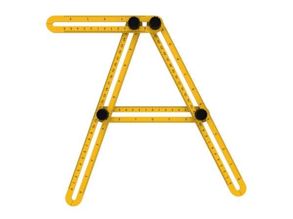 3D ruler multi angle model