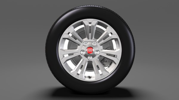 3D fiat talento van wheel model