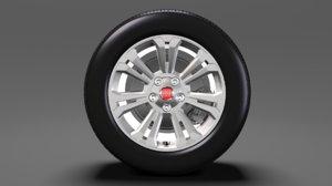 3D fiat talento van wheel model