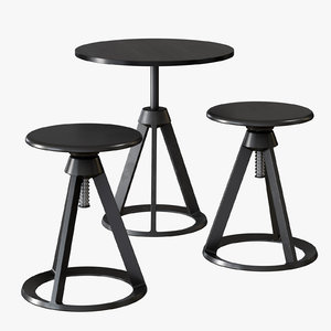 3D knoll piton table chair