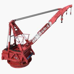 3D crane ship 2 model