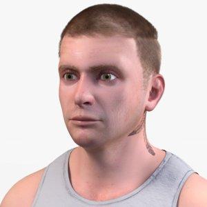 3D realistic man