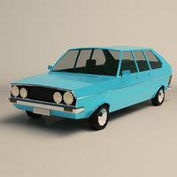 Low Poly Sedan Car 03
