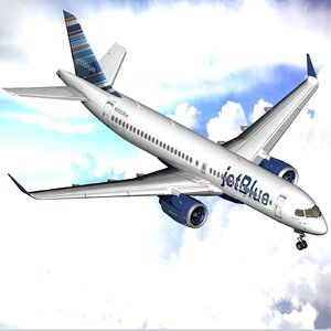 airbus a220 300 series 3D model