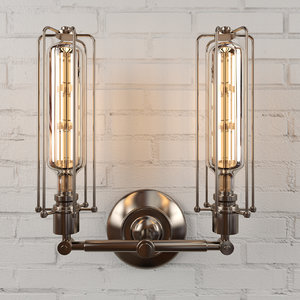wall light edison 3D model