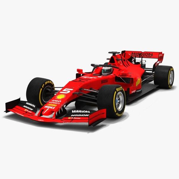 3D scuderia horsari f1 sf90