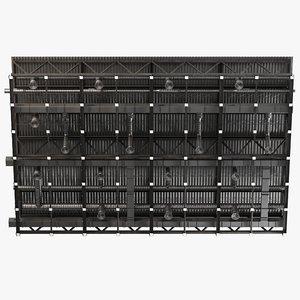 3D model ceiling ventilation 34