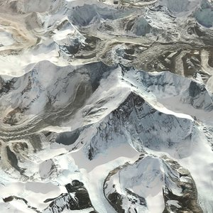 mountain everest terrain 3D model