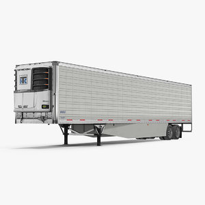 vanguard reefer semi trailer 3D model