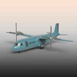 3D plane modeled model