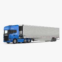 3D scania truck vanguard reefer