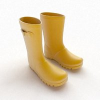 Yellow Wellies with buckles
