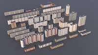 3D buildings russia model