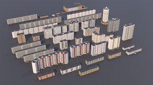 3D buildings russia model