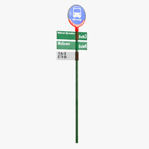 3D street signs