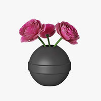 ranunculus vase 3D model