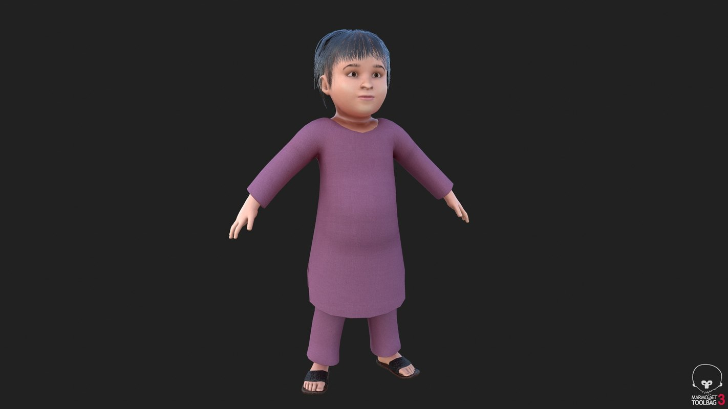 3D toddlers characters milsim