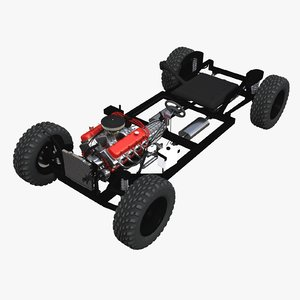3D model engine chassis