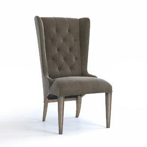 chair hooker furniture arabella 3D