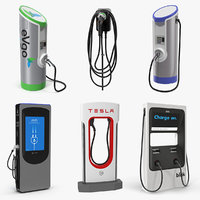electric vehicle chargers 3 3D model
